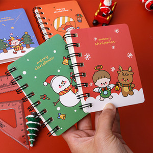 Merry Christmas Spiral A7 Notebook Daily Weekly Planner Blank Paper Santa Claus Note book Time Organizer School Supplies Gift
