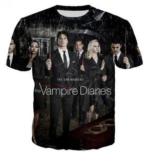 3D Print New TV The Vampire Diary T Shirt Men Tshirt Men Women Casual Streetwear Hip Hop Clothes Harajuku Tops333