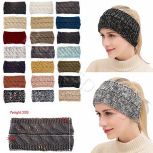 21 Colors Knitted Crochet Headband Women Winter Sports Hairband Turban Head Band Ear Warmer Beanie Cap Headbands CYZ2864 50Pcs
