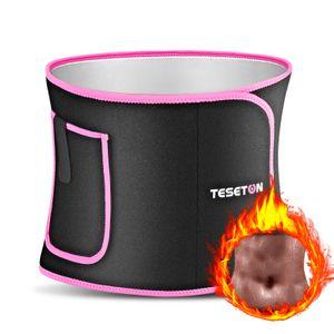 TESETON Waist Trimmer for Women & Men Slimming Belt Back Support Trainer Sweat Band with Phone Pocket Calorie Burning for workout