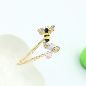 Wholesale hair accessories cute color dripping oil little bee hairpin small fresh Liu Haibian clip jewelry