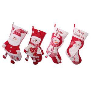 Decorazione del regalo Ciondolo Albero Tessuto non tessuto Big Socks di Natale del lato del letto di Natale Babbo Natale Socks Candy Word