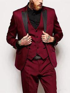 Fashion Business Men Suits Tre pezzi smoking dello sposo Best Man Groomsmen sposo vestito convenzionale sposa Suits smoking (Jacket + Pants)