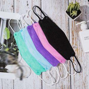 Auf Lager Multicolor KF94 FFP2-Maske für Erwachsene staubdichte und atmungsaktive Schutzwillow-förmige 10pcs / Bag-Paket DHL Freies Verschiffen