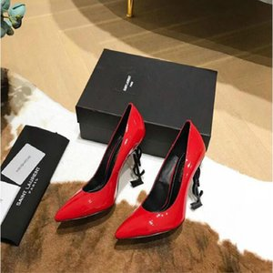 tacchi alti 89 donna moda per donne scarpe partito da sposa nero pink glitter picchi di punta del piede Pompe Dress shioes # x015