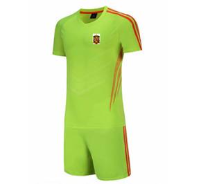 20/21 Neueste Spanien Fußball-Nationalmannschaft Jersey Pant Kids Fußball-Set Größe 20 Erwachsene Fußball Sportswear Herren Short Anzüge XXL