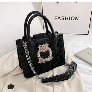 HBP Sweet Lady Handbag 2020 Fashion New High Quality PU Leather Lady Designer Diamond Cadena Hombro Mensajero Bolsa