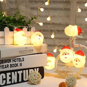 Weihnachtsbaum Dekor LED Batterie Bedienen Licht String Frohe Weihnachten Santa Claus Schneemann Licht Weihnachten Wohnkultur 30 satz t1i2696