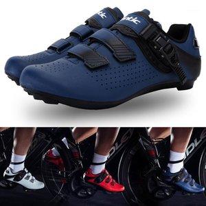 Homens Santics Ciclismo Sapatos Respirável Sem Slip Palladium Buckle Bicycle Road Shoes Lightweight Asiático Tamanho WS200121