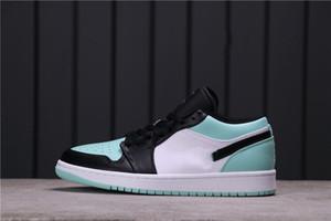 Аутентичный jumpman 1 низкий нарезанный jumpman 1 низкая изумрудная баскетбольная обувь Бесплатная доставка спортивная обувь с коробкой