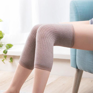1 par cashmere quente joelho joelho joelho apoio homens e mulheres ciclismo alongamento prevenir artrite joelheira