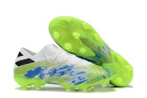 2019 scarpe di alta qualità di calcio Mens Nemeziz 19 .1 Fg morsetti di calcio di Messi Scarpe da calcio Tacos de Futbol con logo