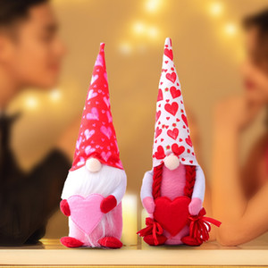 Valentine's Day Love Faceless Doll Decoration Boy And Girl Gift Plush Gnomes Stuffed Toy Ornaments M3233