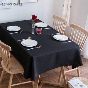 LOVRTRAVEL solide rectangulaire Nappe Bla Camp Hôtel Wedding Party Place Table à manger et Nappes Table basse couverture