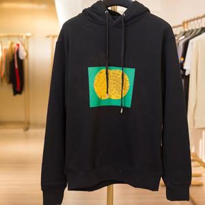 19FW feito na italy bloco hoodies letra logotipo impresso moletom com capuz par casual rua outdoor homens mulheres hoodies