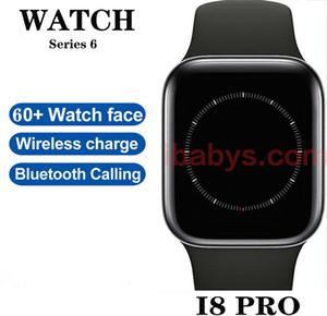 2020 Nouvelle série I8 Pro Series 6 44mm Chargement sans fil Smart Watch SmartWatch pour GoOphone 12 Pro Max 6 6S 7 8 x XS Plus