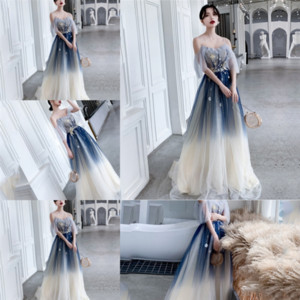 vqistage wear Bridal Women's Neck Bridesmaid Dresses Jewel Long Prom Dresses Modest Chiffon Evening high quality designer