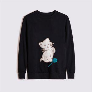 Мода Мужчины Толстовка Горячие продажи Мужчины и женщины высокого качества хлопка фуфайки сплошной цвет ретро с длинным рукавом Толстовка свитер