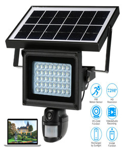 40 IR LEDS Solar Floodlight Street Lamp 720P HD CCTV Security Camera DVR Recorder PIR Motion Detection support TF Card