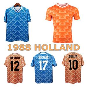 1988 Holland Retro Soccer Jersey 88 89 Gullit van Basten Rijkaard Koeman Vintage Clássico Casa Away Camisa de Futebol Países Baixos