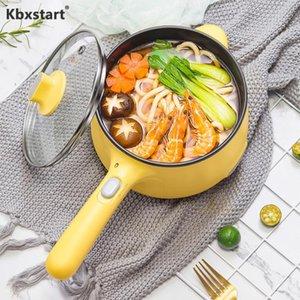 طباخ كهربائي 1.2L الفولاذ المقاوم للصدأ متعدد الألوان غير عصا الطلاء الأرز طباخ الأرز مقلاة مقلاة عموم تعديل 2 والعتاد