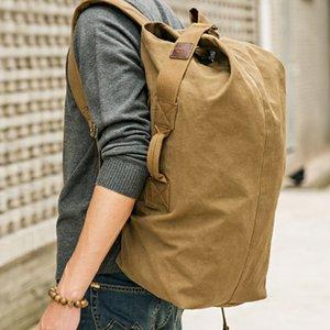 Large Capacity Rucksack Men Travel Bag Mountaineering Backpack Male Luggage Canvas Bucket Shoulder Bags For Boys Backpack XA202K008