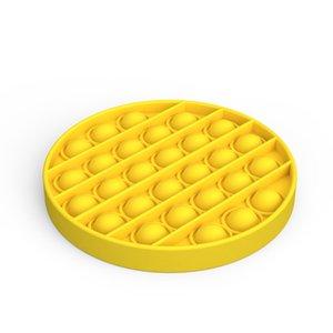 Pop It Fidget Toy Sensory Push Pop Bubble Fidget Sensory Toy Autism Special Needs Anxiety Stress Reliever Red