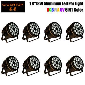 18x18W Aluminium Led Par lumière RGBWA UV 6in1 LED Flat Par Avec contrôle DMX512 DJ Disco scène éclairage mariage lumière