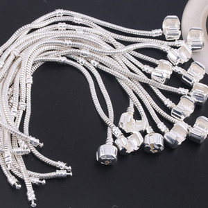 Factory Wholesale 925 Sterling Silver Bracelets 3mm Snake Chain Fit Pandora ps1440