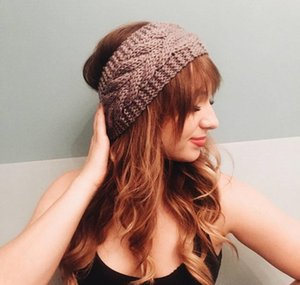 32colors Knit Hair Band Fashion Crochet Headband Winter Warm Wool Crochet Hairband Girls Headwrap Scarf Turb jllzHI ffshop2001