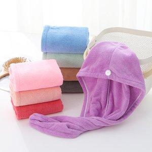 Gorros de ducha para la magia de secado rápido de la microfibra de pelo secado con la toalla turbante Wrap Sombrero Caps Caps Spa Baño ST273
