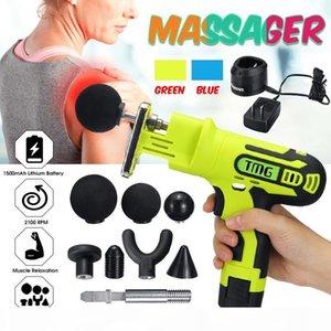 Elettrico posteriore della spalla del collo Massager del corpo Massager del muscolo Guns riscaldata Impastare casa Massagem +7 Massaggi intercambiabili Teste