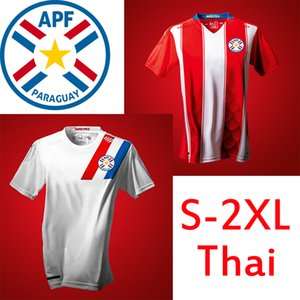 Paraguay National Copa América Équipe de football 2020 2021 Nouvelle maison de football Rouge Élevé Blanc Jerseys Hombres Camisetas de Fútbol Hommes Shirts Uniformes