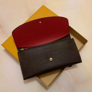 Commercio all'ingrosso 9 colori moda singolo cerniera Pocke uomini donne portafoglio in pelle donna signora borsa lunga con carta scatola arancione 60136 LB81