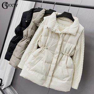 Gbyxty Vest Casual Branco Duck Down Jacket mangas por Mulheres Outono Inverno Feather Colete Kamizelka Damska Za2204