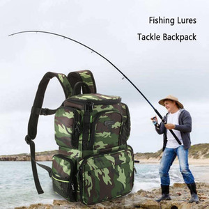 Lixada Fishing Tackle Bag Large Capacity Camouflage Bag Backpack Fishing Storage Lures Bait Box For Hunting Travel Camping