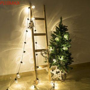 Novidade 38 PCS Limpar Bola 10m LED String Festoon Luzes de Festo de Corda de Natal Casamento Ao Ar Livre Férias Luz de Luz Decoração Pátio Luzes