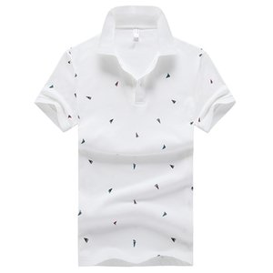 2021 New Summer Tops of Wholesale Men Powder Men's Cotton Spooned Man's Feather in Short Sleeve Shirt 3-4 Buns lot Shirts B041