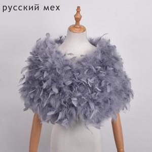 Real Ostrich Fur Shawls Elegant White Ostrich Feather Coats Wedding Fur Boleros Bridal Shawls Jackets for evening dresses