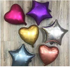 New 10pcs 18inch Chrome Metallic Heart Star Round Helium Foil Balloons Baby 1st Birthday Party Supplies Wedding Decor Ai sqcWEV