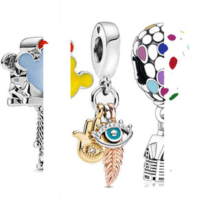 Codemonkey 100% réel Argent 925 Perles ballon Charms Bracelet Fit original de 3 mm Faire bijoux bri pour les femmes S925