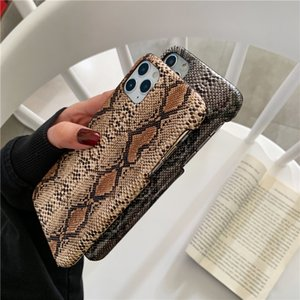 Ins hot dark snakeskin is suitable for apple mobile phone case creative personality leather soft cover phone case