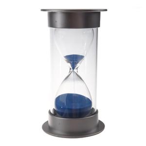 الجملة البلاستيك الكريستال الصندل الرملي 15 دقيقة على مدار الساعة الرمل الديكور Sandglass Timer Blue1