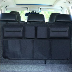 Car Trunk Organizer Adjustable Back Seat Storage Bag Net High Capacity Multi-use Oxford Car Backrest Organizers Universal