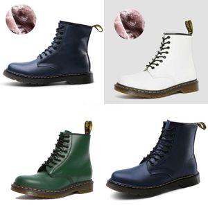 Neue Ankunfts-heiße Verkaufs-Angebote Super-Fashion Influx Martin Plus Velvet Cotton Retro Quadrat-Kopf Brown Paket Box Edle Schuhe Stiefel EU-45 # 603