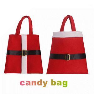 Hot Sale Christmas Santa Candy Bags Xmas Decoration Sack Cute Kids Gift Bag belt buckle Candy Bag Christmas Decorations IC8794651