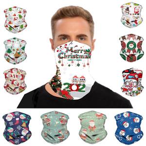 Christmas Bandana Scarf Santa Claus Seamless Turban Neck Gaiter Cartoon Face Masks Outdoor Cycling Headband Xmas Party Gift Free DHL LQQ151