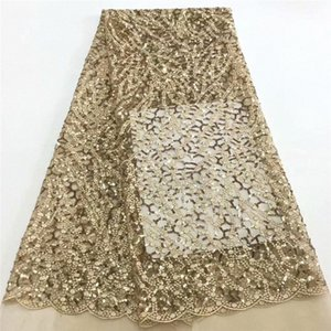 Nigerian Lace Fabric 2020 High Quality Lace Fabric Wedding African With Sequins Nigerian French For Dress Ru82 969 Ivory Ribbon Cheap jt9Y#