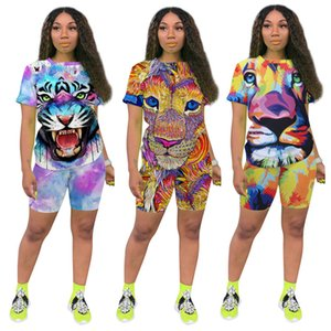 womens sportswear short sleeve T-shirt shorts outfits shirt shorts 2 piece set skinny shirt pants sport suit pullover tights klw6061
