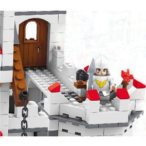AUSINI 27110 Knights Castle Series Building Block Set Kids DIY Educational Creative Model Bricks Toys For Children C0119